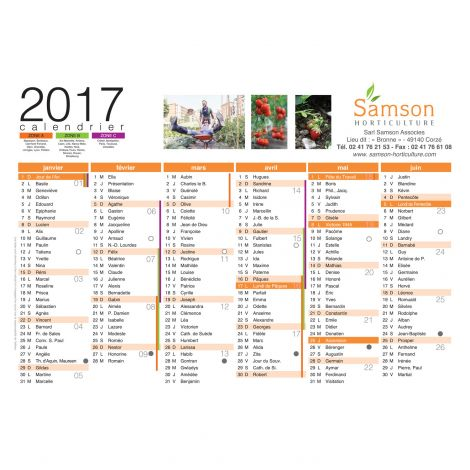Calendrier Samson Horticulture